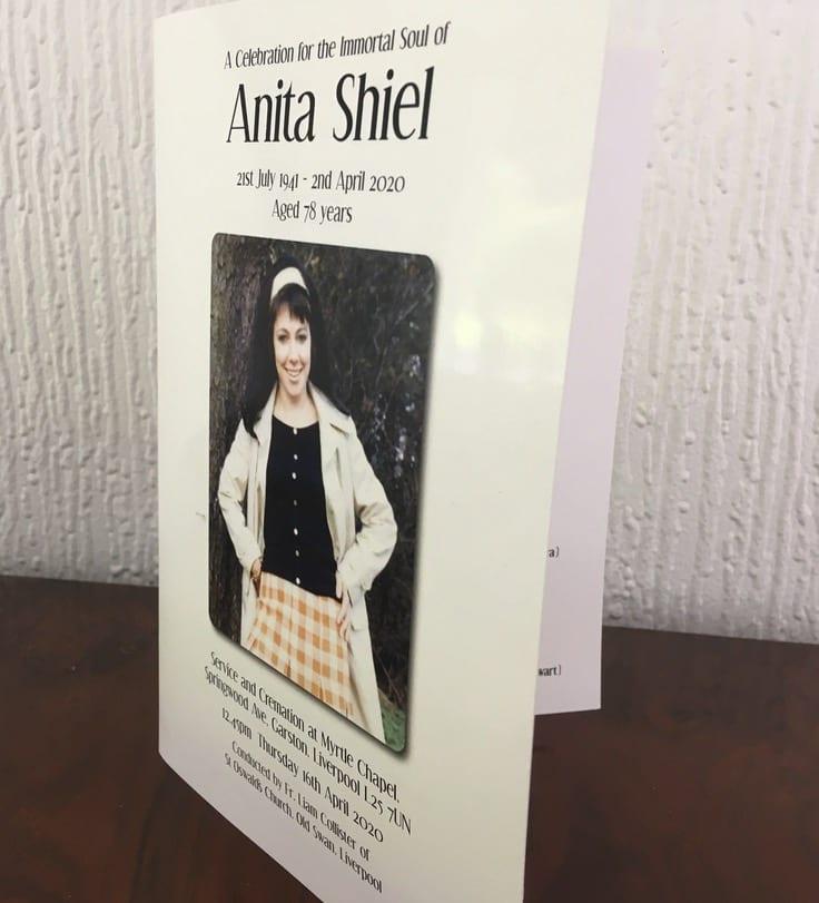 Anita Order of Service