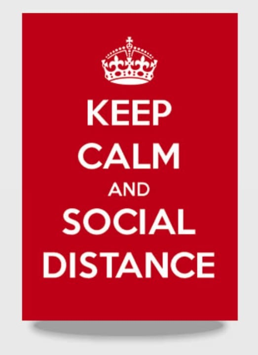Keep Calm And Social Distance