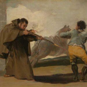 Friar Pedro Shoots El Maragato as His Horse Runs Off - Francisco José de Goya y Lucientes