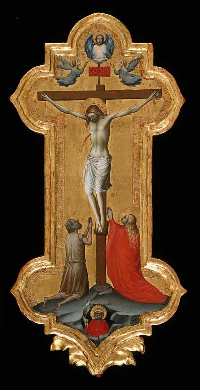 Processional Cross with Saint Mary Magdalene and a Blessed Hermit - Lorenzo Monaco