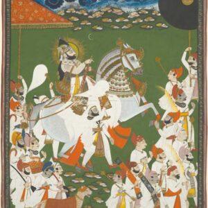 Maharana Bhim Singh in Procession - attributed to Ghasi